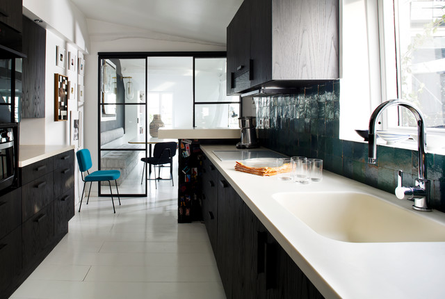 Duplex parisien kitchen contemporain cuisine paris - Cabinet d architecture d interieur paris ...