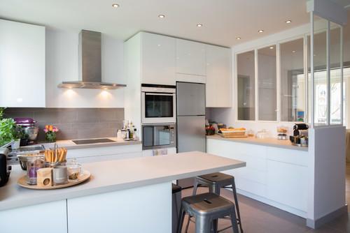 Epure et sur mesure pour une cuisine à Neuilly-sur-Seine