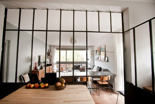 esprit loft industriel cuisine grenoble par agence soixante quinze. Black Bedroom Furniture Sets. Home Design Ideas