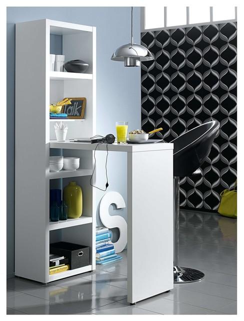 exo tag re avec table haute blanche contemporain. Black Bedroom Furniture Sets. Home Design Ideas
