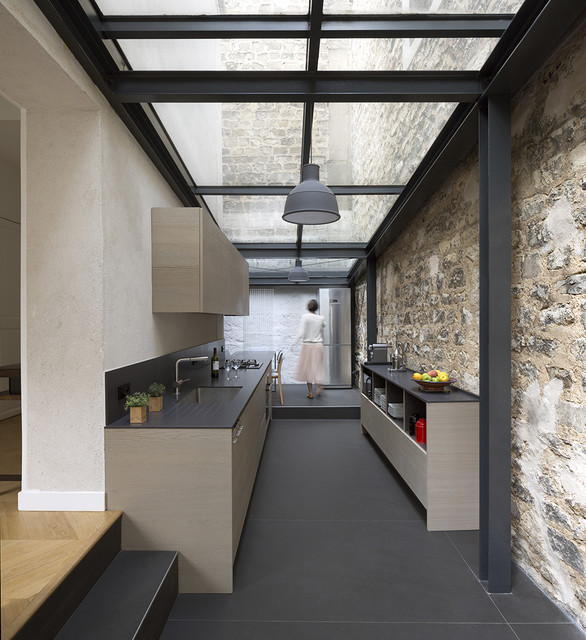 Extension de maison paris modern kitchen