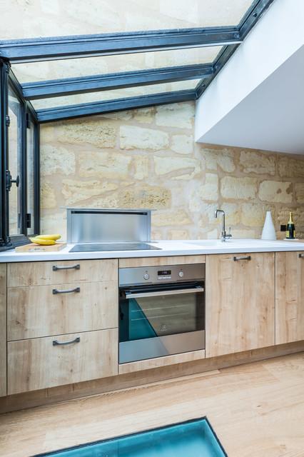 Extension sur terrasse et r novation d 39 une choppe - Extension cuisine sur jardin ...