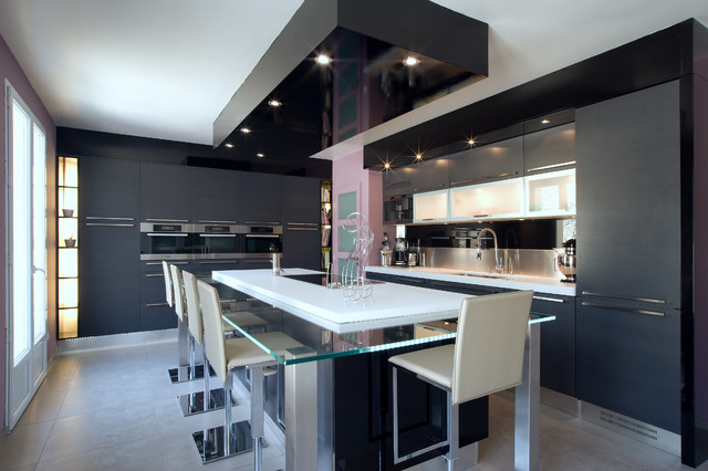 GRANDE CUISINE DESIGN ITALIEN FINITION ANTHRACITE PAR SEVERINE ...
