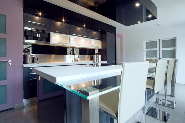 Grande cuisine design italien finition anthracite par for Photos cuisine moderne italienne