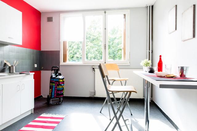 home staging lyon la mulati re contemporain cuisine lyon par tiphanie fogel home staging. Black Bedroom Furniture Sets. Home Design Ideas