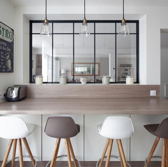 Inspiration cocon industriel cuisine paris par - Cuisine architecte d interieur ...