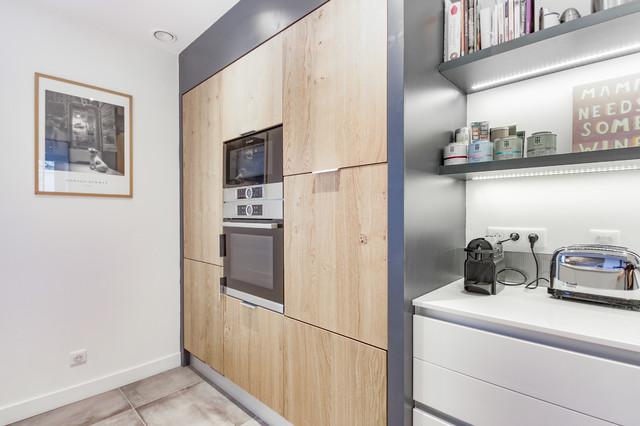 Inspiration scandinave pour une cuisine blanche et bois ...