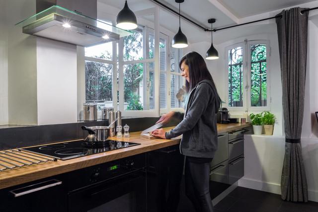 loft design modern k che nizza von franck minieri photographer. Black Bedroom Furniture Sets. Home Design Ideas