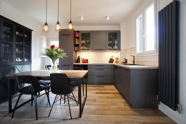Maison 100m2 Soisy Sous Montmorency Contemporary Kitchen Paris By 100c