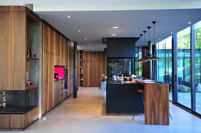 Maison gv contemporain cuisine nantes par py - Faux plafond cuisine ouverte ...