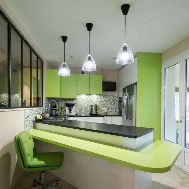 Maison particulière - Décoration - Contemporary - Kitchen - Nantes ...