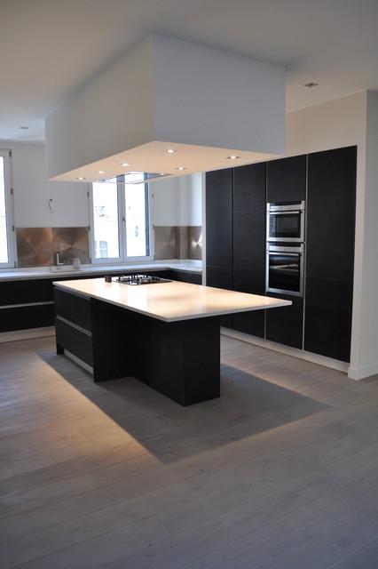 maison refaite et restructur e cuisine open space. Black Bedroom Furniture Sets. Home Design Ideas