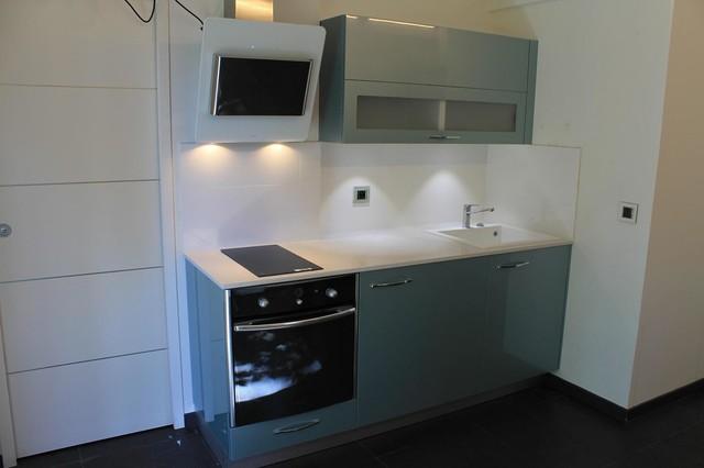 Micro Cuisine Kitchenette Acrylique Vert D Eau Modern