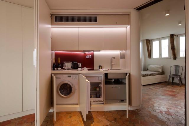 mini appartement paris 05 modern k che paris von nim architecture. Black Bedroom Furniture Sets. Home Design Ideas