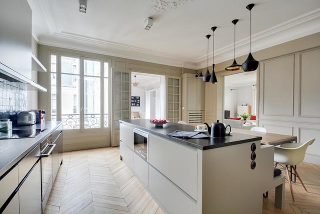 Niel classique chic cuisine paris par el int rieurs - Cuisine classique chic ...