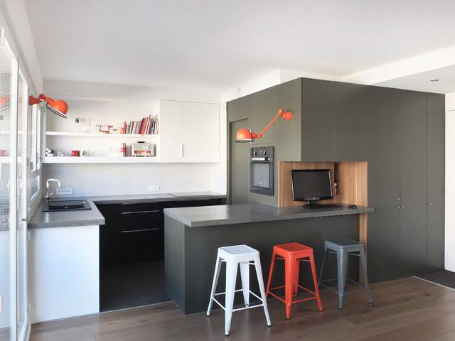Petite ceinture contemporain cuisine paris par - Arredare cucina grande ...