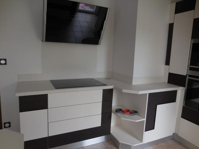 plan de travail cuisine en c ramique n olith nieve. Black Bedroom Furniture Sets. Home Design Ideas