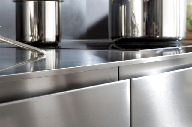 plan de travail inox paisseur 12 5 mm contemporain cuisine nice par alpha elita. Black Bedroom Furniture Sets. Home Design Ideas