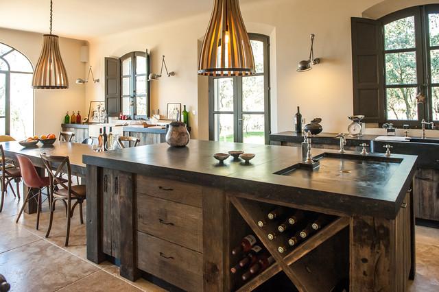 Provence kitchen contemporary kitchen montpellier for Provence kitchen design