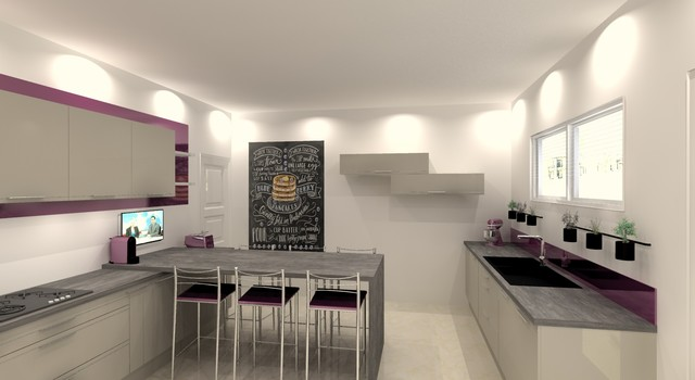 Prune gourmande modern kitchen lille by am lie for Cuisine 3d boulanger