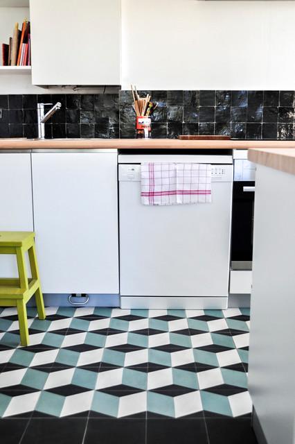 R alisation cr dence cuisine zelliges by ateliers zelij for Cuisine zellige