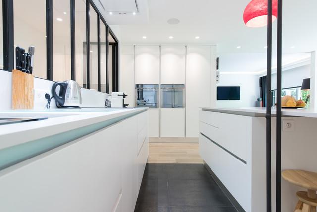 R alisation d 39 une cuisine ouvert avec lot central dans for Realisation cuisine ouverte