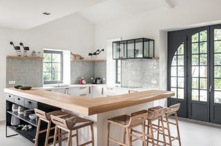 r alisations carreaux peints zelliges scandinavian kitchen toulouse by ateliers zelij. Black Bedroom Furniture Sets. Home Design Ideas