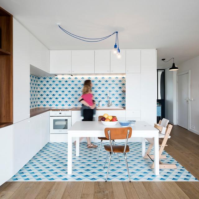 rehabilitation appartement 19e scandinave cuisine paris par beau bour. Black Bedroom Furniture Sets. Home Design Ideas
