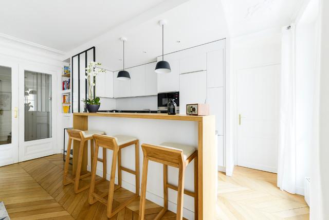 Rénovation Appartement Haussmannien Paris V - Modern - Küche ...