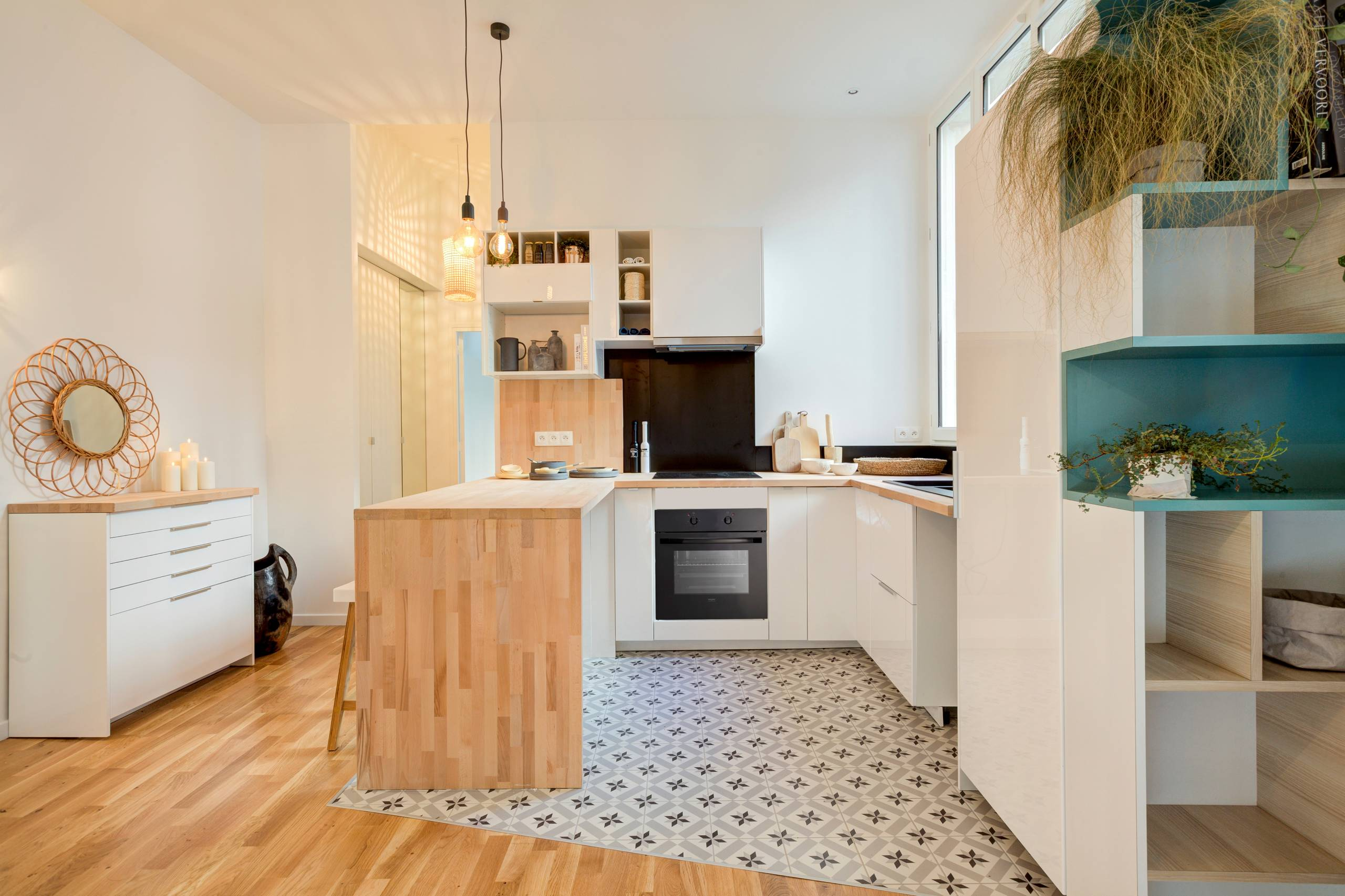 Armoire Comptoir De Famille 75 beautiful cement tile floor kitchen pictures & ideas | houzz