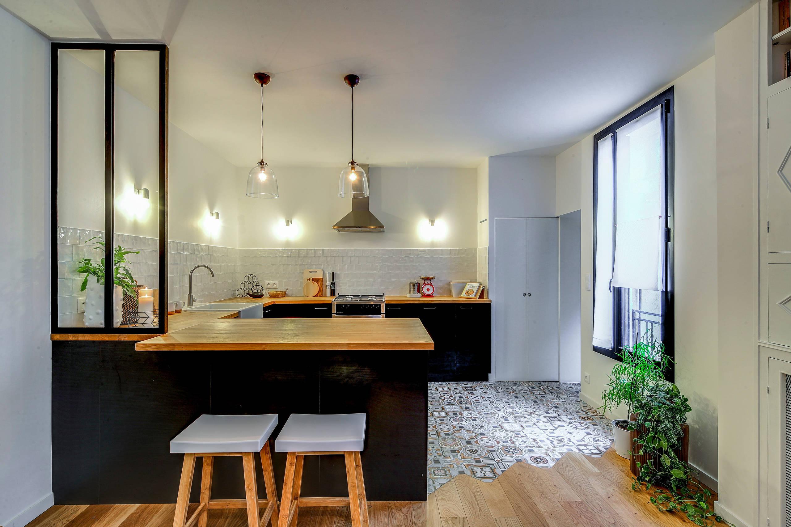 Rénovation complète du rez-de-chaussée d'une maison à Aubervilliers