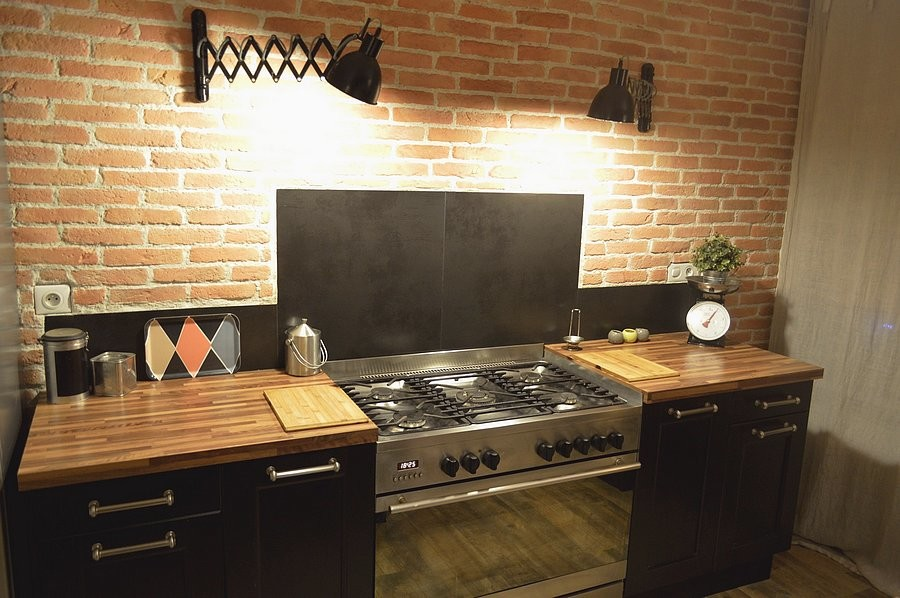 Renovation Cuisine Maison Ancienne Gers Industrial Kitchen