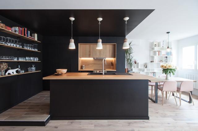 R novation d un appartement paris buttes chaumont for Cuisine contemporaine
