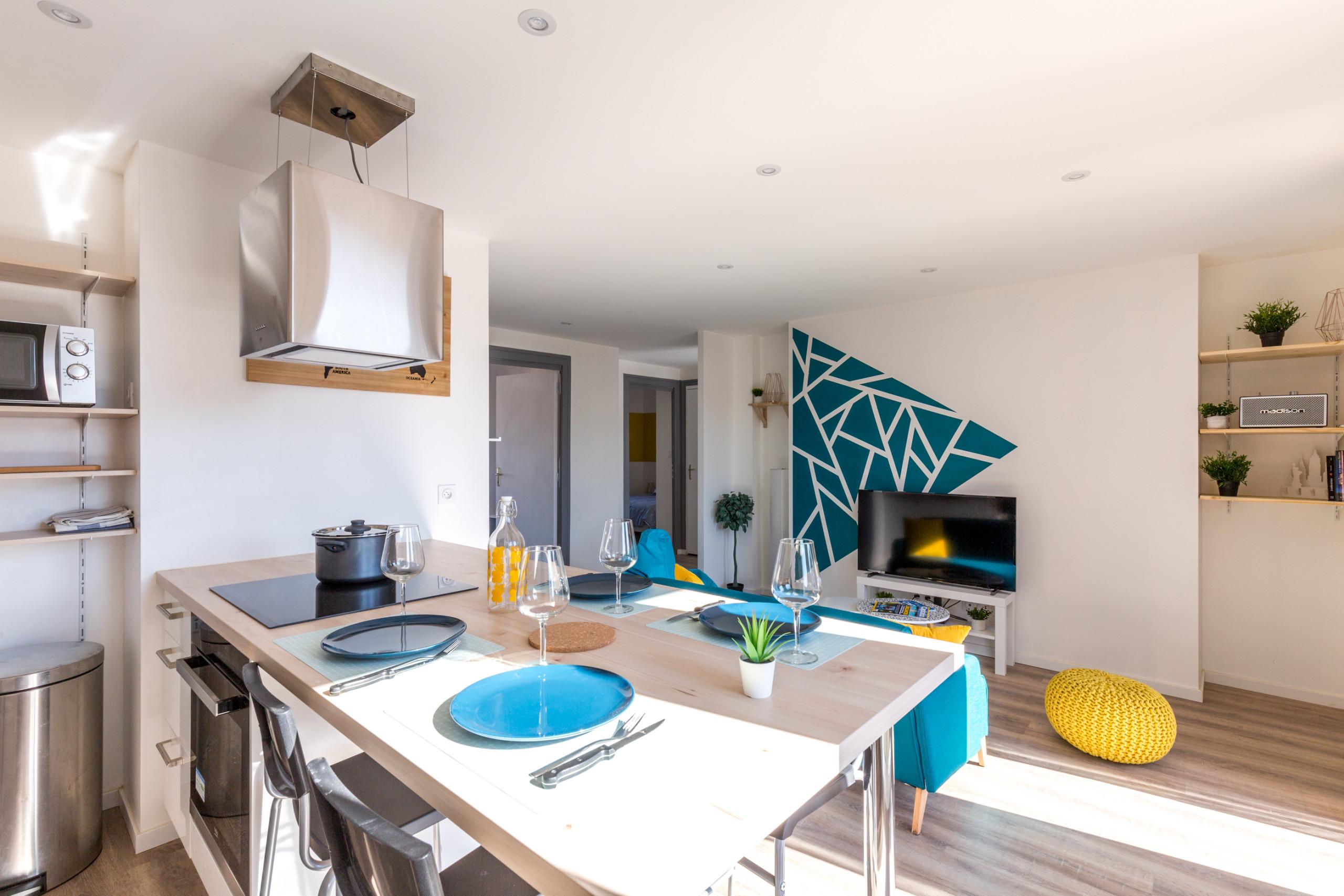 Renovation d'un appartement / cuisine salon