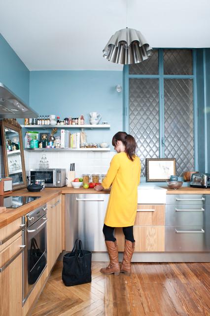 r novation d 39 un appartement haussmannien contemporary k k other metro av fusion d. Black Bedroom Furniture Sets. Home Design Ideas