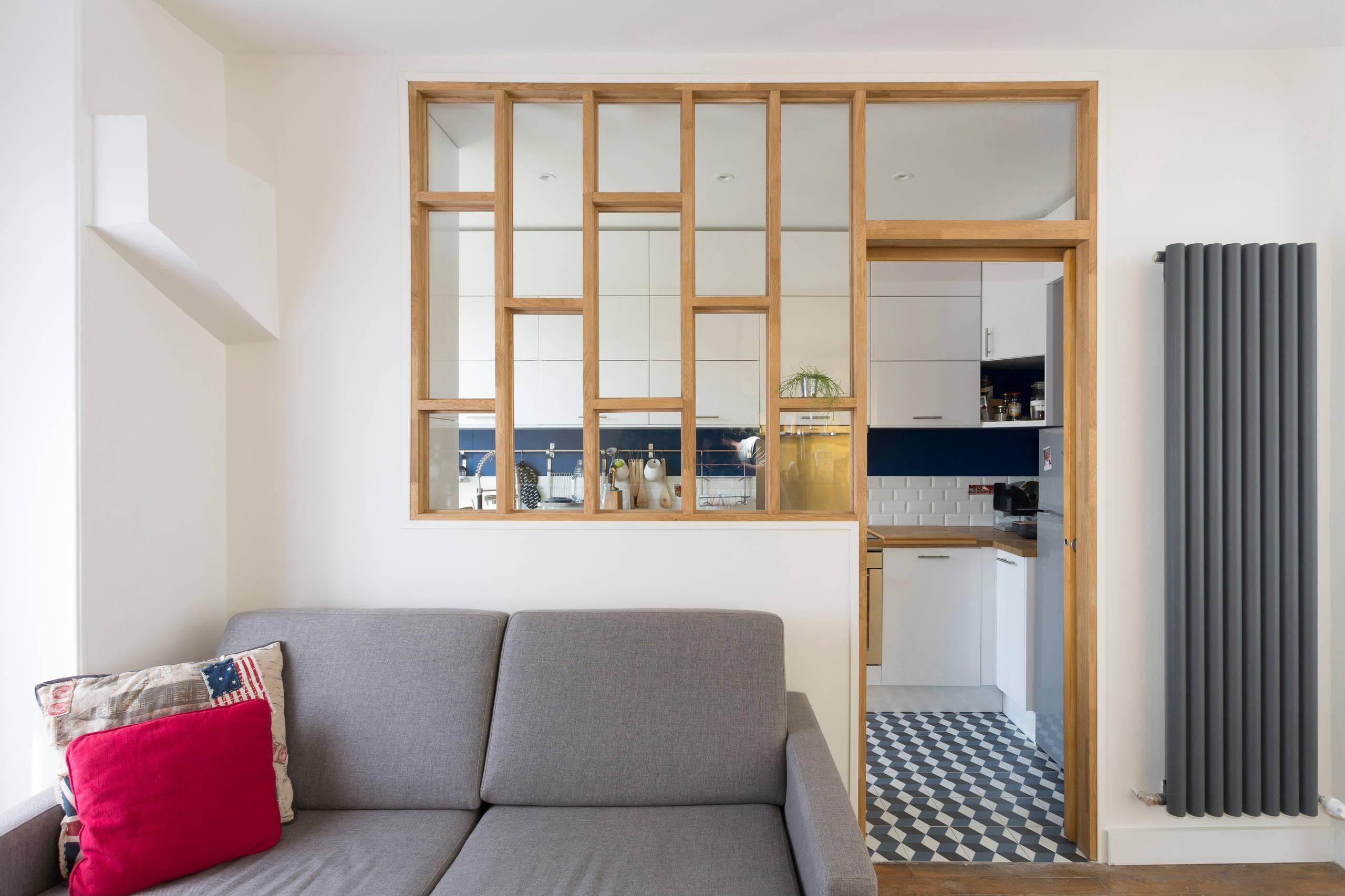 Rénovation d'une cuisine avec une verrière bois