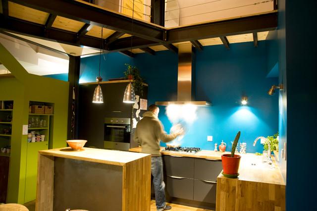 R novation d 39 une maison de ville clisson eclectic - Renovation petite maison de ville ...