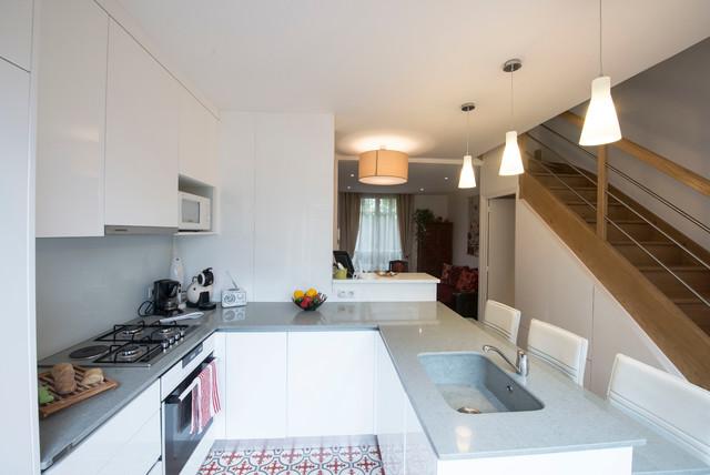 Rénovation d\'une maison en meulière - Contemporain - Cuisine ...