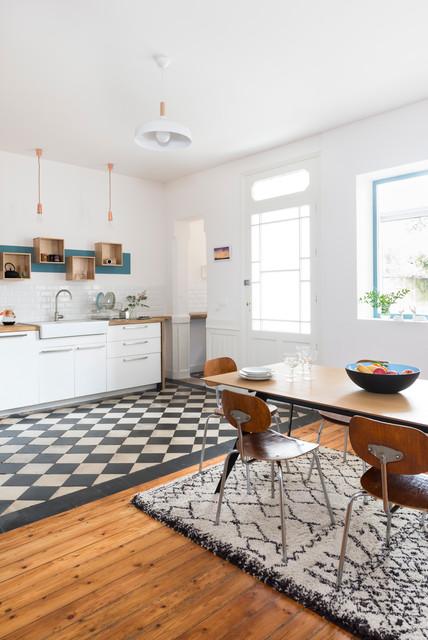 Rénovation décoration maison bourgeoise - Scandinave - Cuisine ...