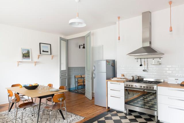 Rénovation décoration maison bourgeoise - Scandinavian - Kitchen ...