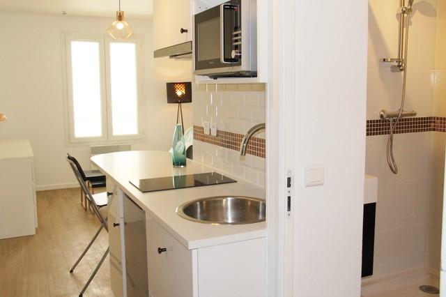 Amenagement cuisine studio pour les petites cuisines with for Amenagement cuisine provencale