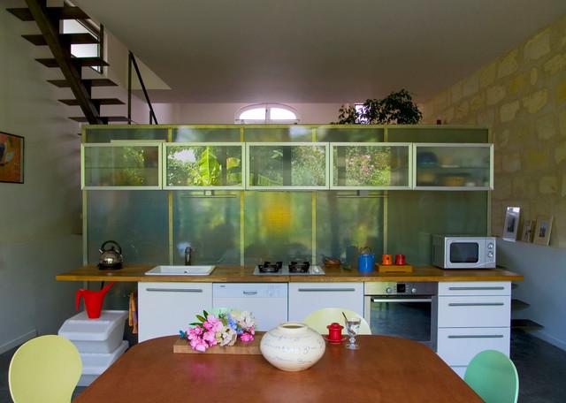 renovation maison de ville bordelaise echoppe. Black Bedroom Furniture Sets. Home Design Ideas