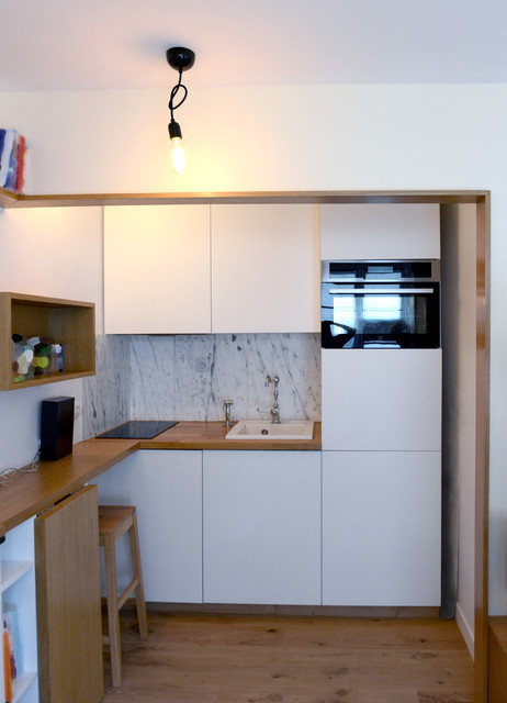 Rénovation studio 21 Paris X - Contemporain - Cuisine - Paris ...