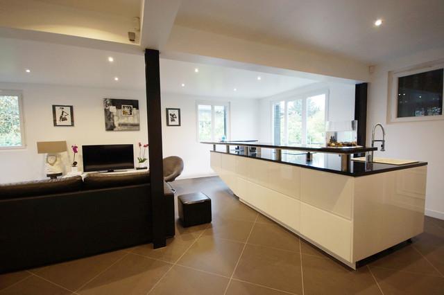 r novation totale cuisine salon pavillon chelles architecte d 39 int rieur paris contemporain. Black Bedroom Furniture Sets. Home Design Ideas