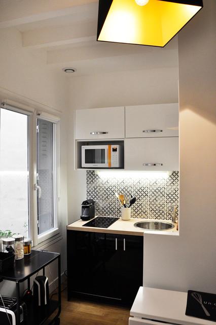 rez de chauss e cuisine modern k che paris von elc deco. Black Bedroom Furniture Sets. Home Design Ideas