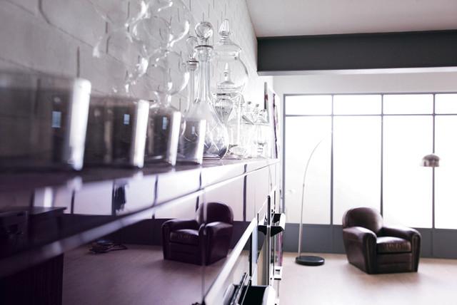 rive gauche des meubles en laque brillante elixir contemporain cuisine nantes par. Black Bedroom Furniture Sets. Home Design Ideas