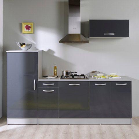 root ensemble de meubles de cuisine gris pr t installer. Black Bedroom Furniture Sets. Home Design Ideas