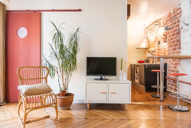 salon cuisine de 30m2 clectique cuisine paris par. Black Bedroom Furniture Sets. Home Design Ideas