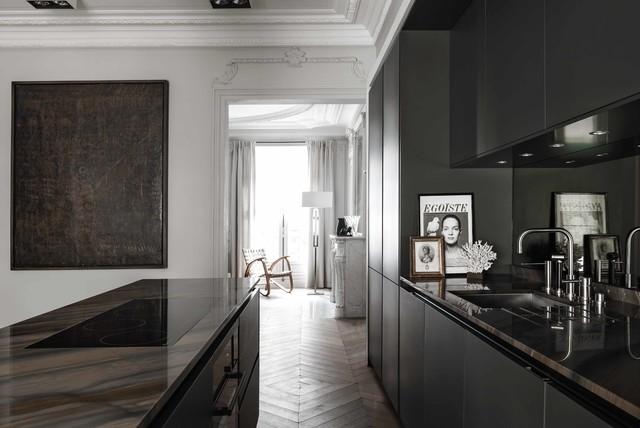 Siematic pure s gris graphite contemporary kitchen paris
