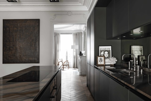 Siematic pure s2 gris graphite contemporary kitchen paris by siematic france - Credence keuken wit ...